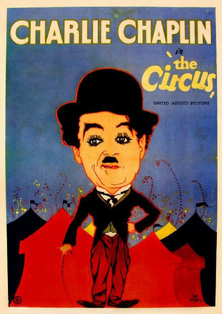 The Circus, Charlie Chaplin, 1928 Vintage Film/Movie Print.  (002830)